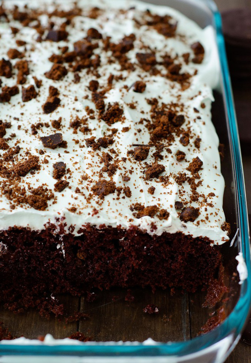 thin mint chocolate cake