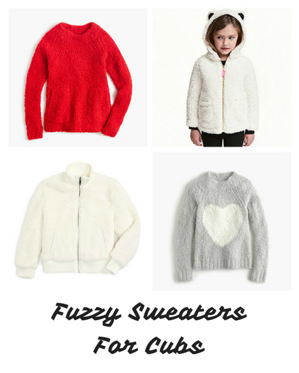 fuzzy sweaters girls