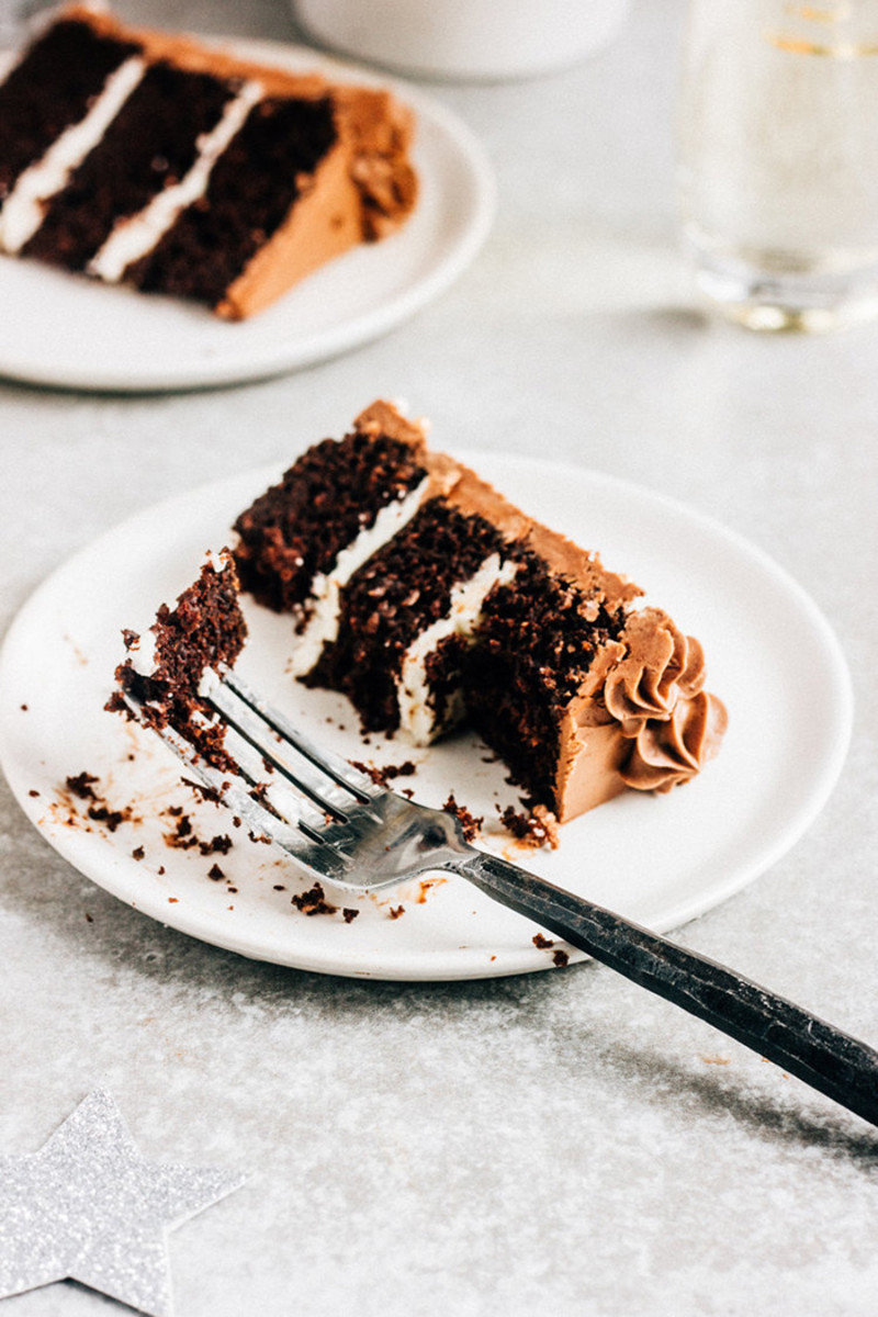 chocolate champagne cake