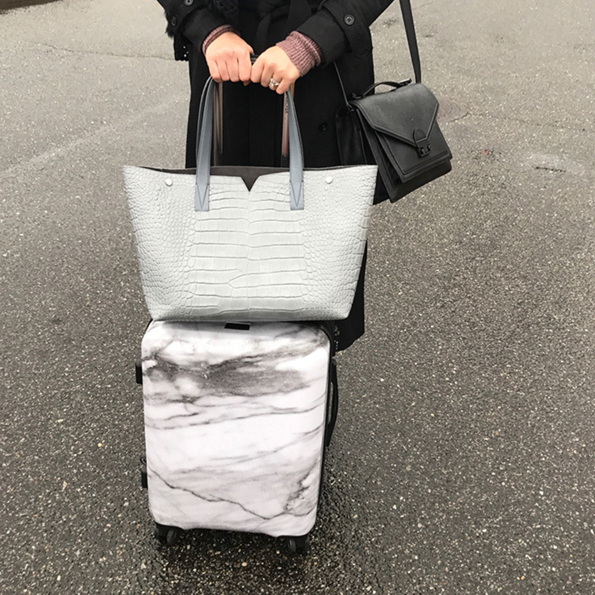 marble luggage