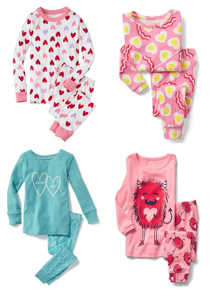 girls valentine's day pajamas