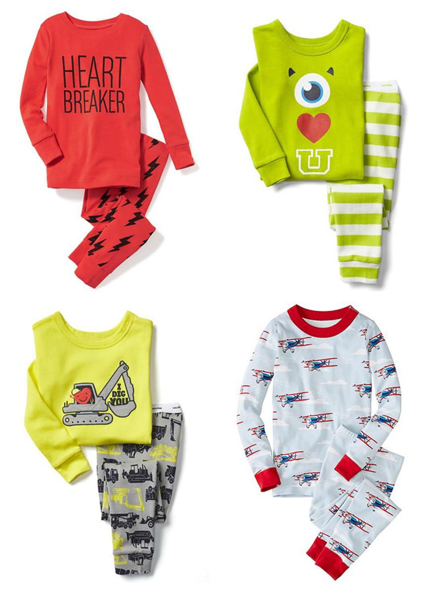 valentine's day pajamas boys