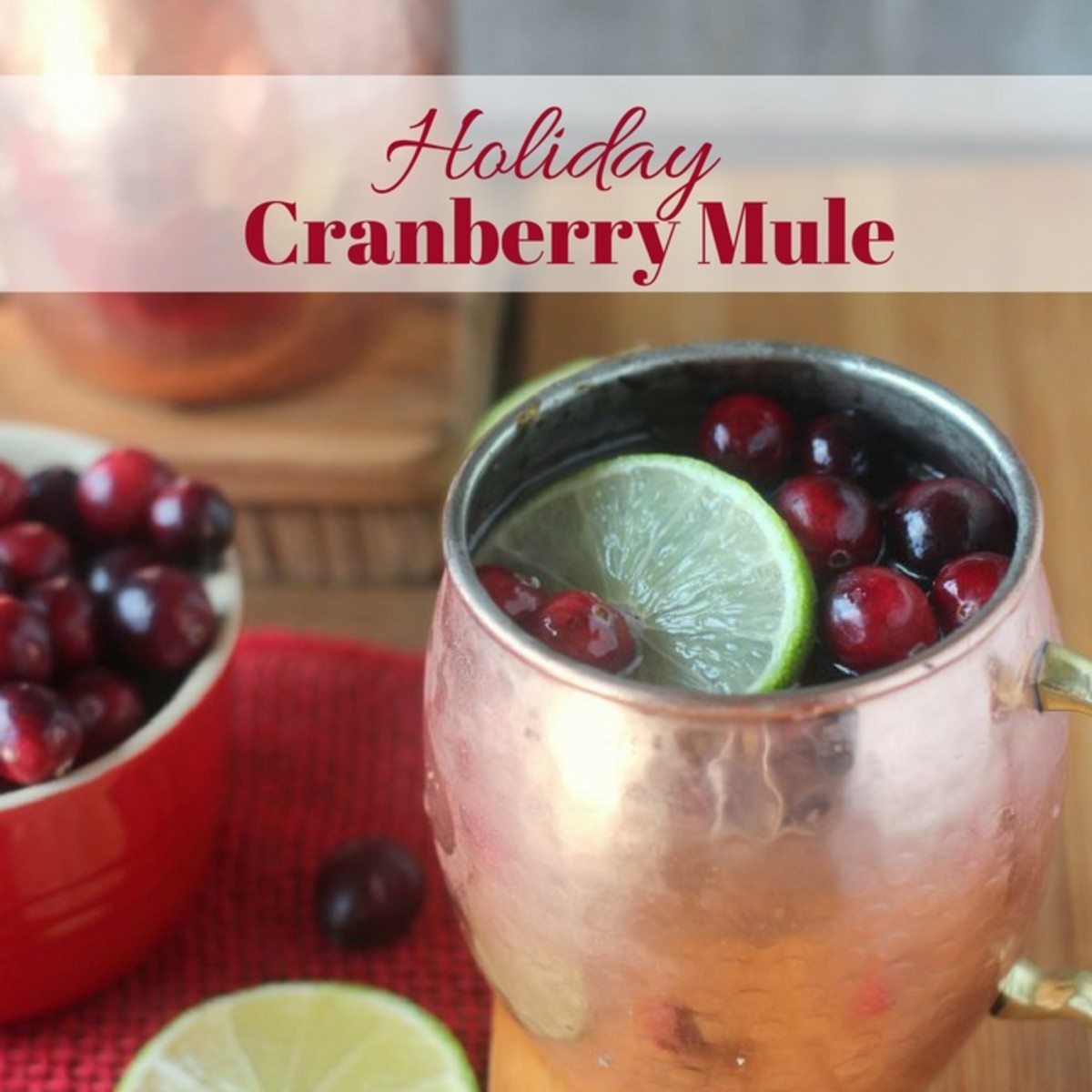 Holiday Cranberry Mule