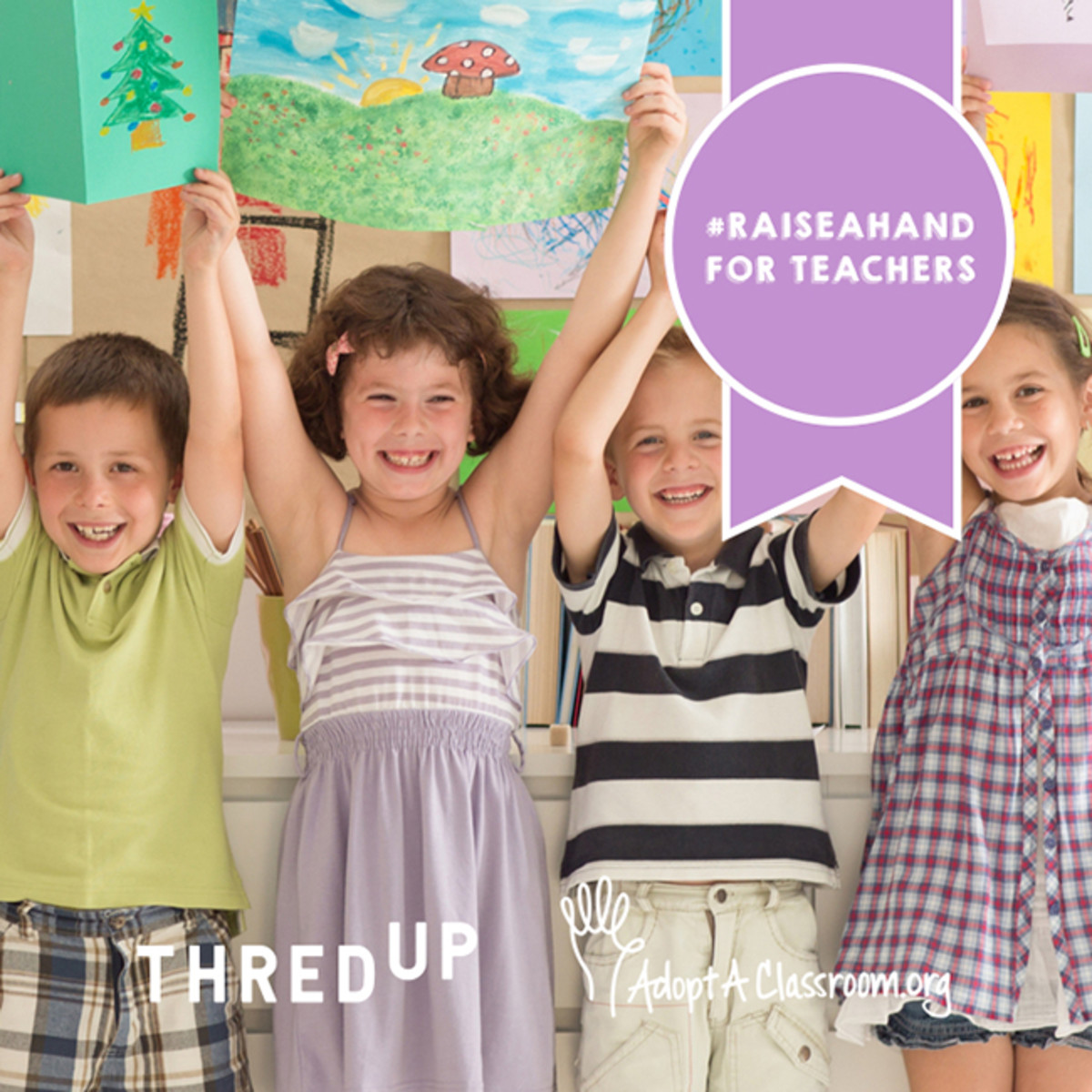 thredup raise a hand for teachers