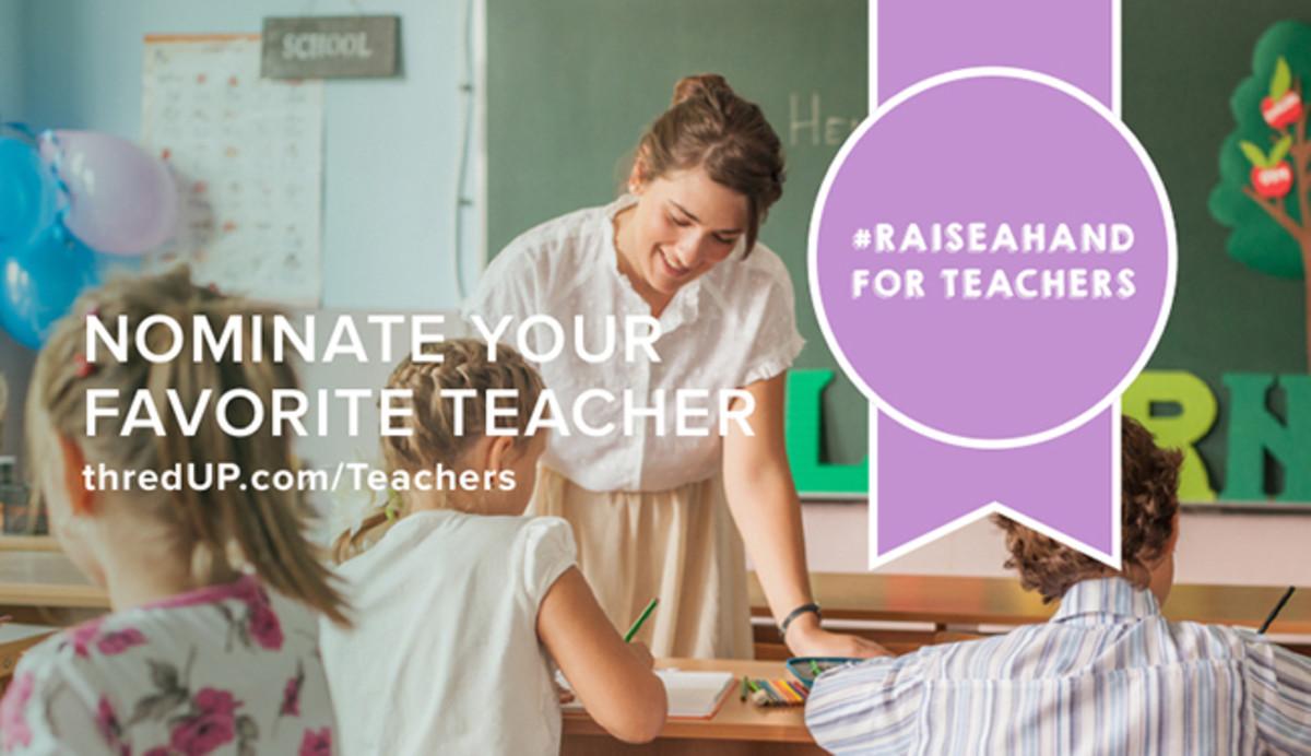 raise a hand for teachers thred up