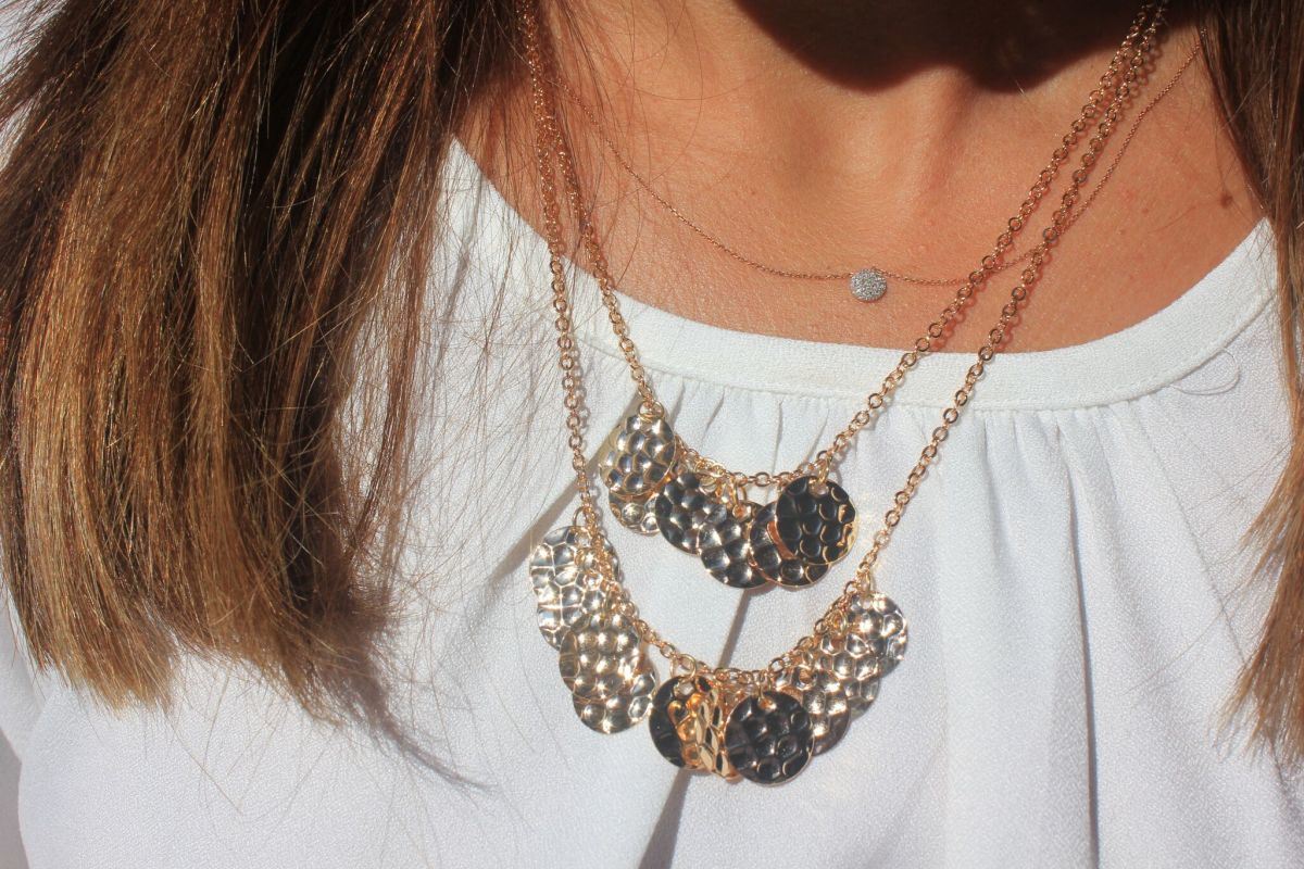 delicate stacked necklace