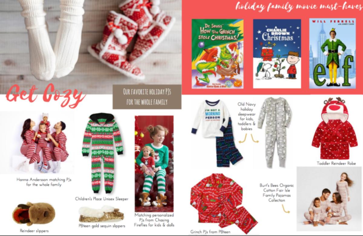 holiday gift guide, holiday pajamas, gift guide