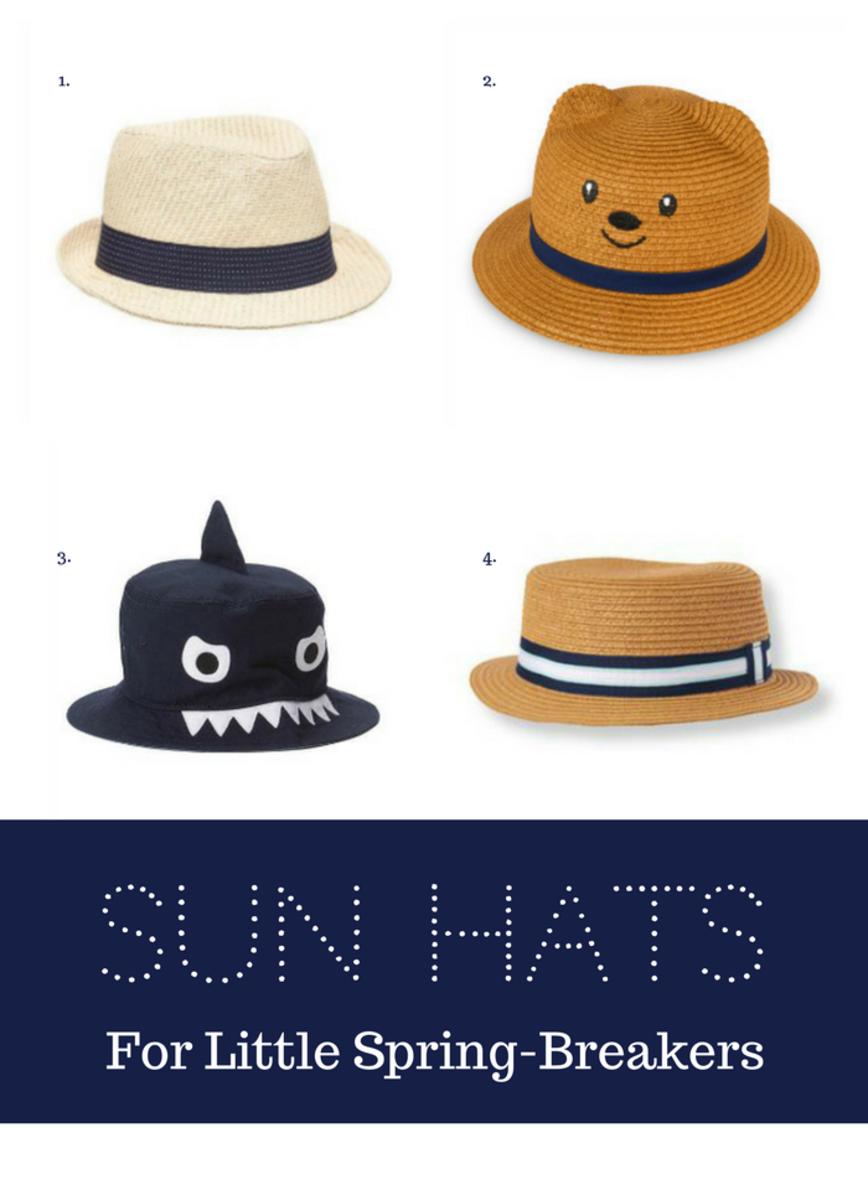 spring break sun hats boys