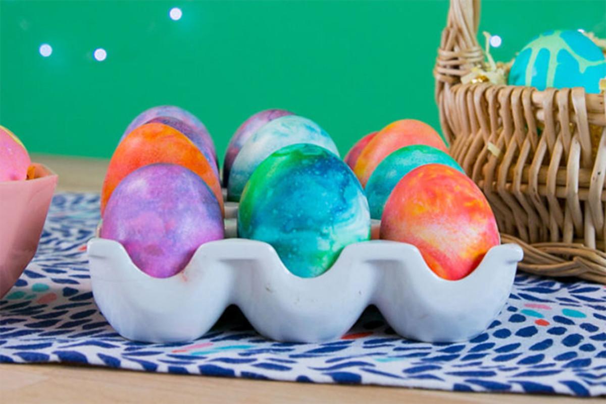 shaving cream marbel eggs
