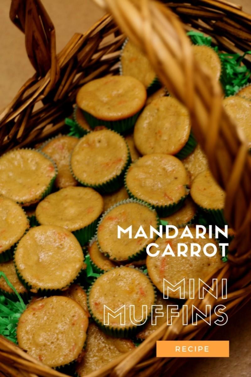 mandarin carrot minni muffins