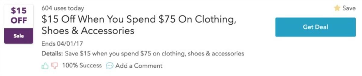 retailmenot deal