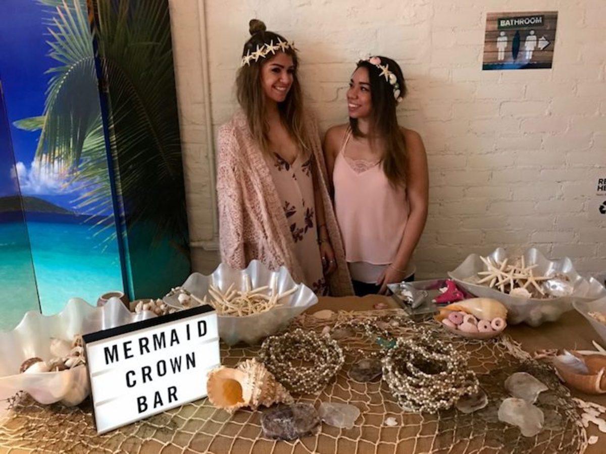 mermaid crown bar