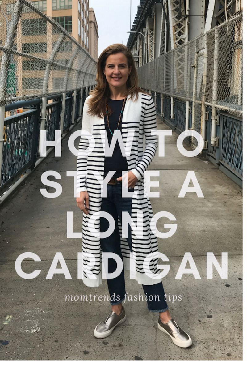 How to Style a Long Cardigan Pin