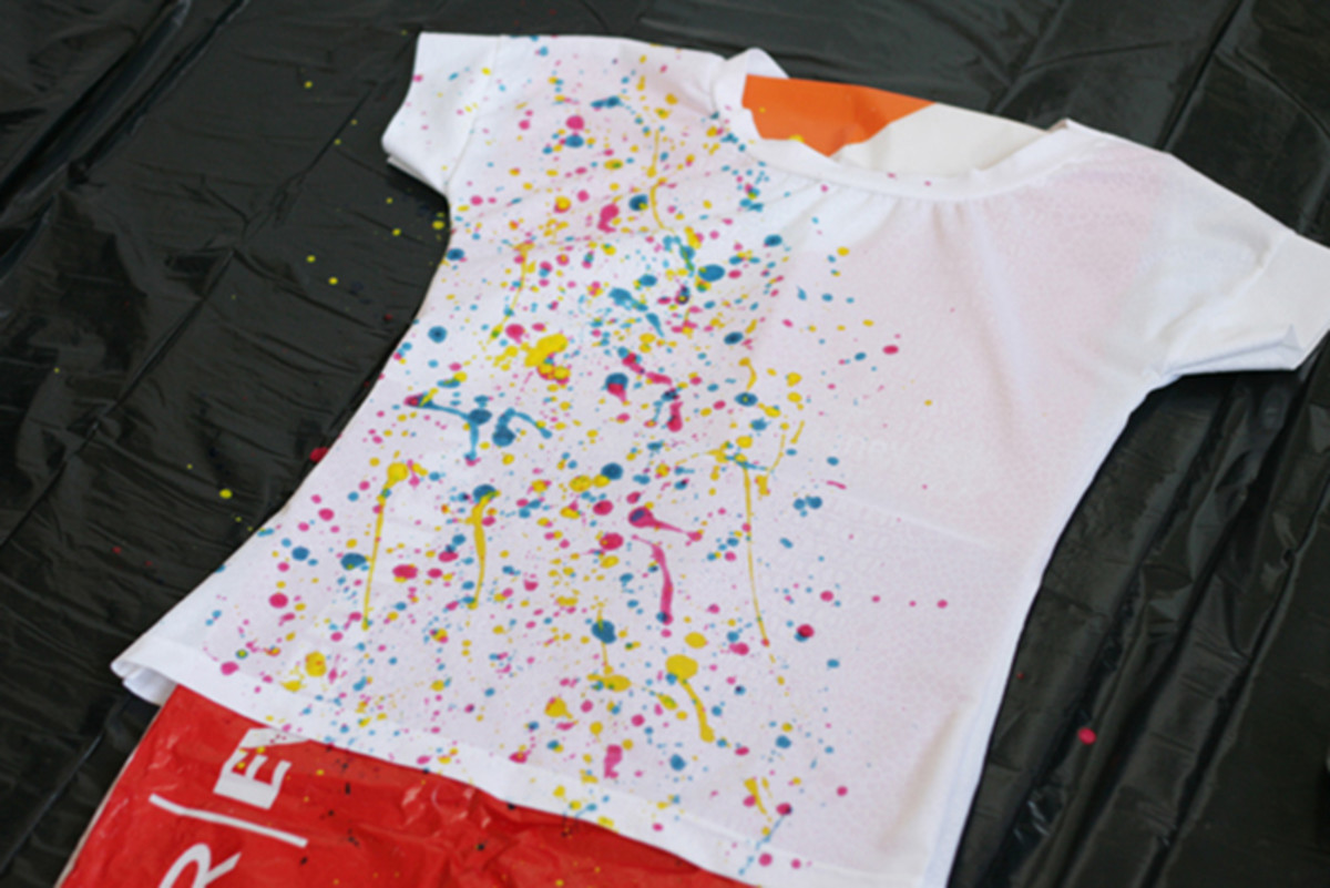 splatter diy tee