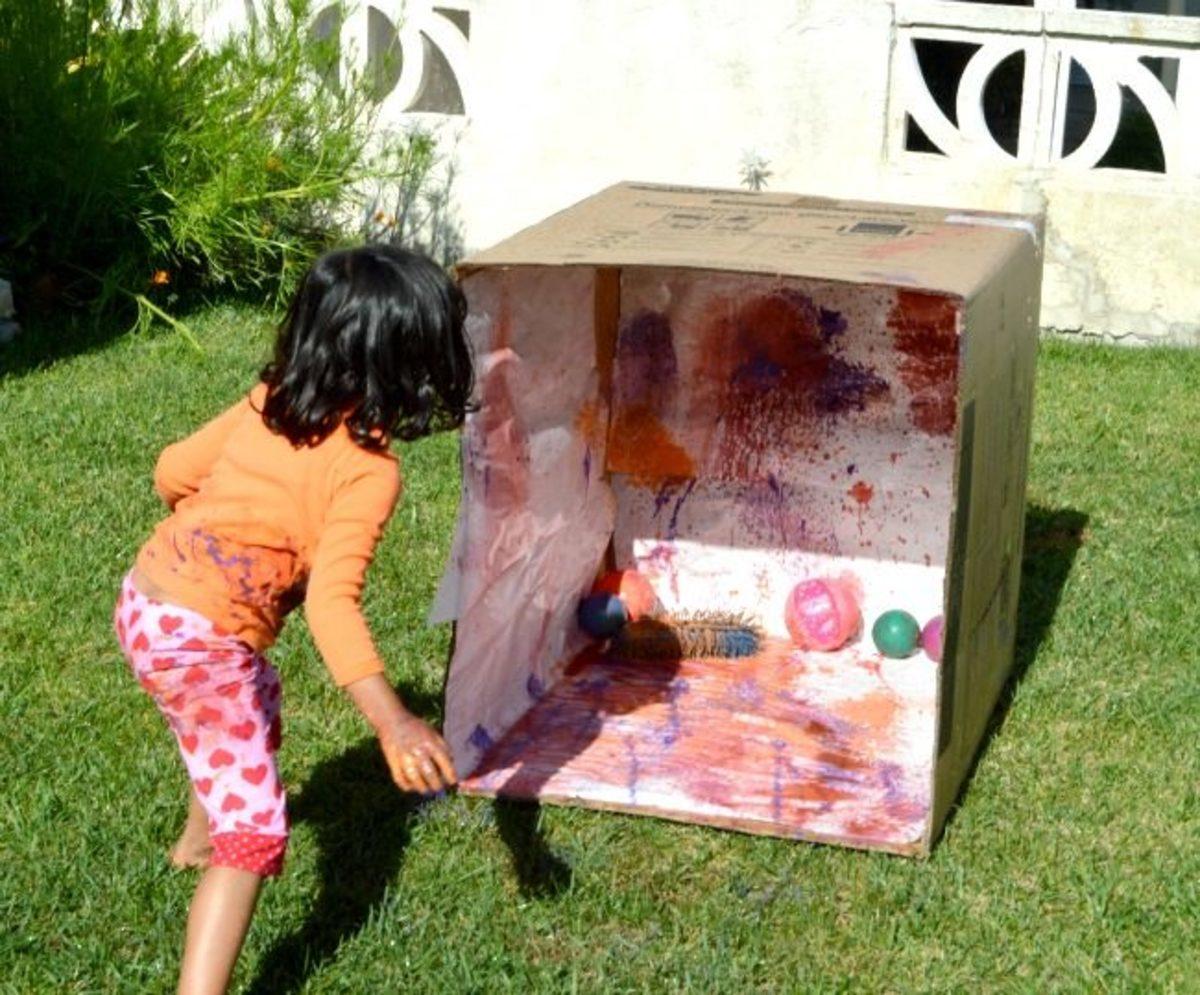 splatter paint ball