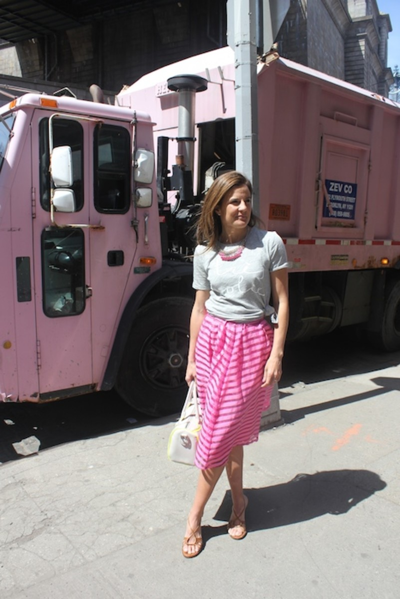 Pink Garbage Truck