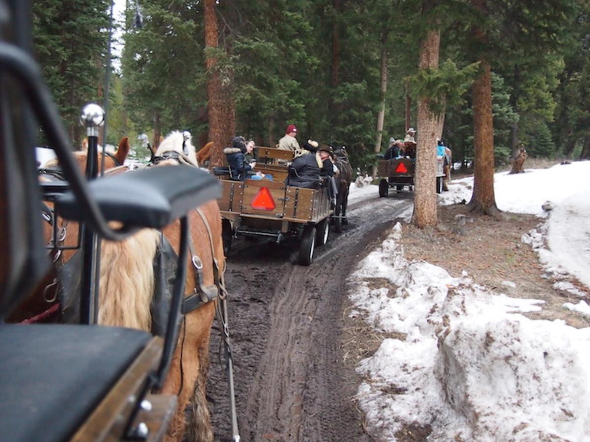 sleigh ride dinner lone mountain ranch