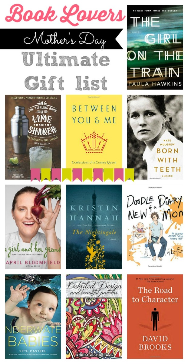 mother's day book gift ideas