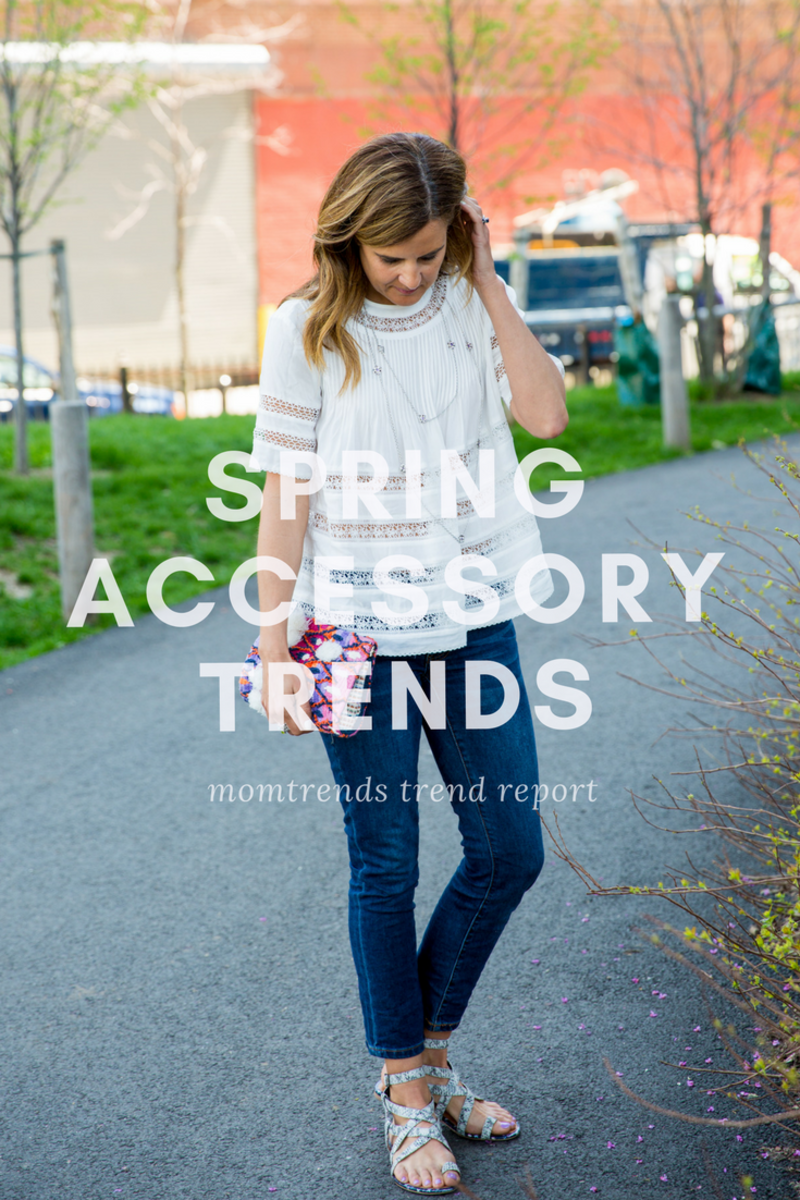 spring accessory trends: layer on some pretty jewelry to this simple outfit for a easy summer style