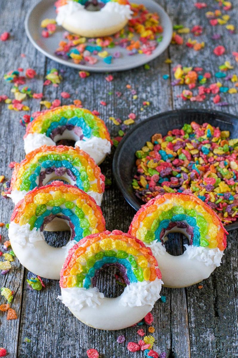 donuts rainbow