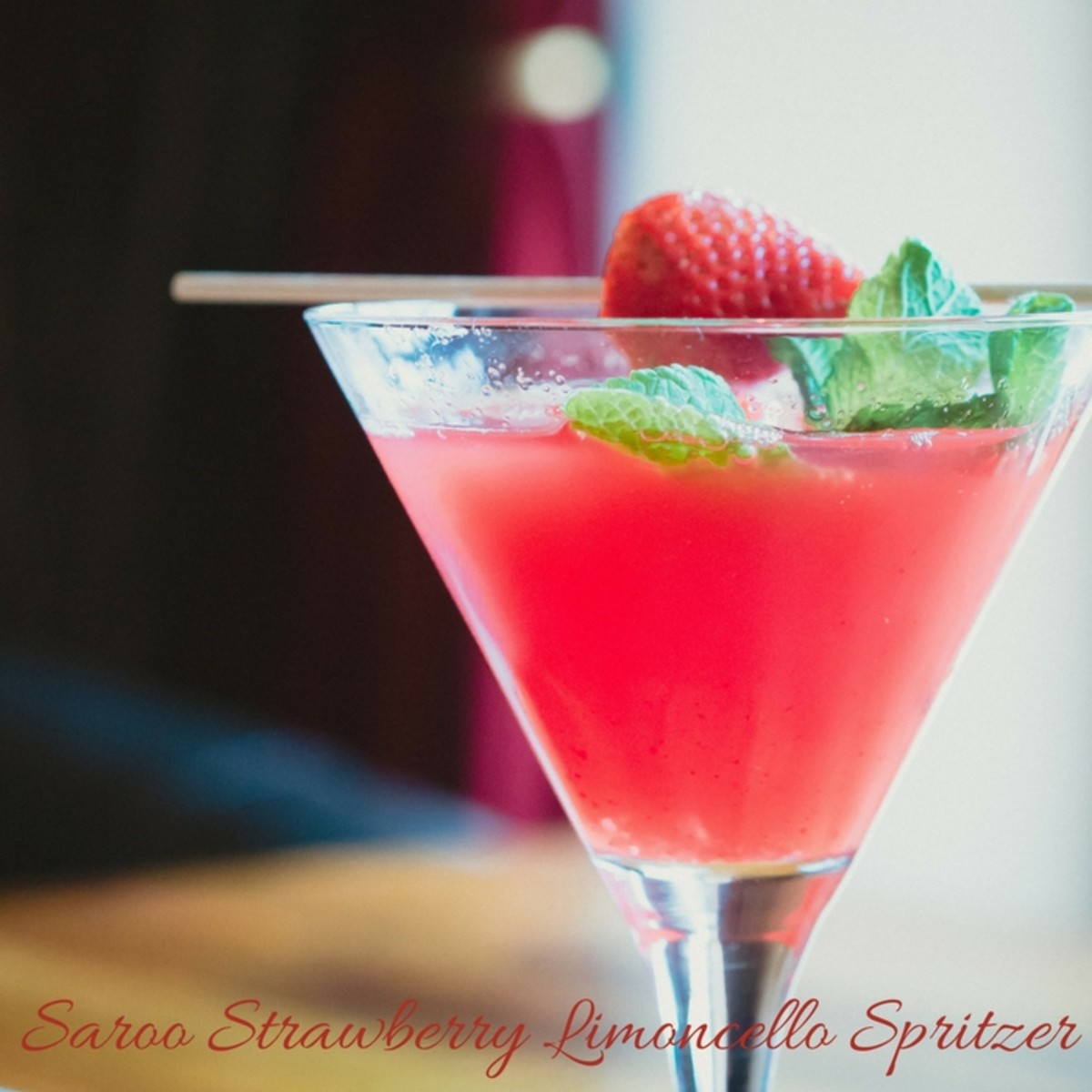 Strawberry Limoncello Spritzer