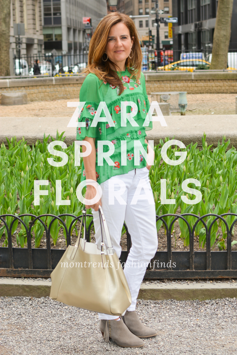 Spring Florals from Zara--get inspired to wear some flowers this spring