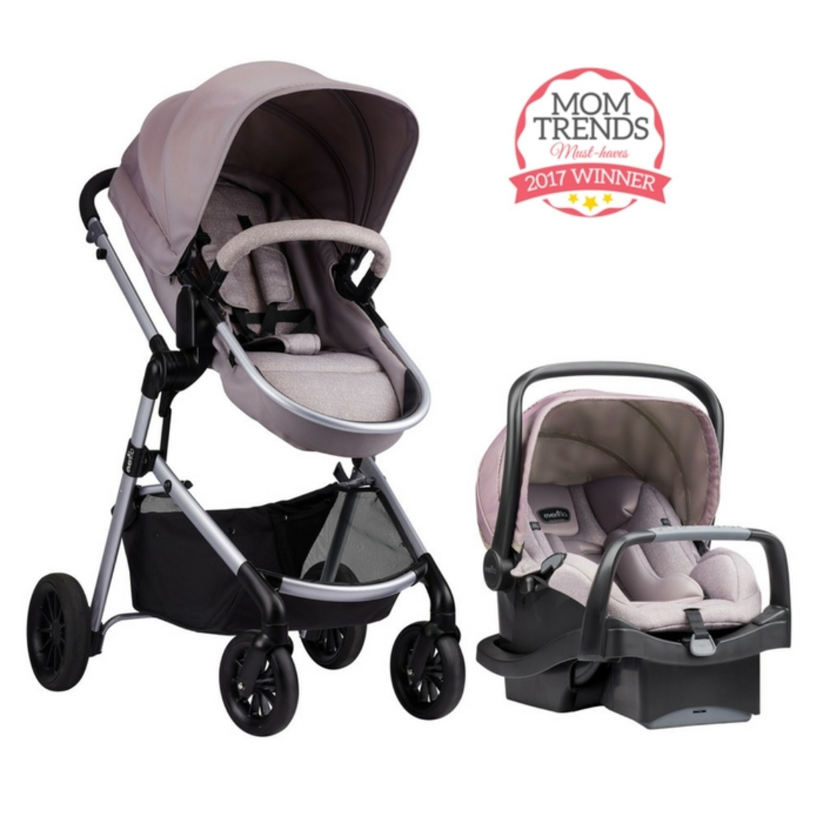 Momtrends Must-Have Evenflo Pivot Travel System