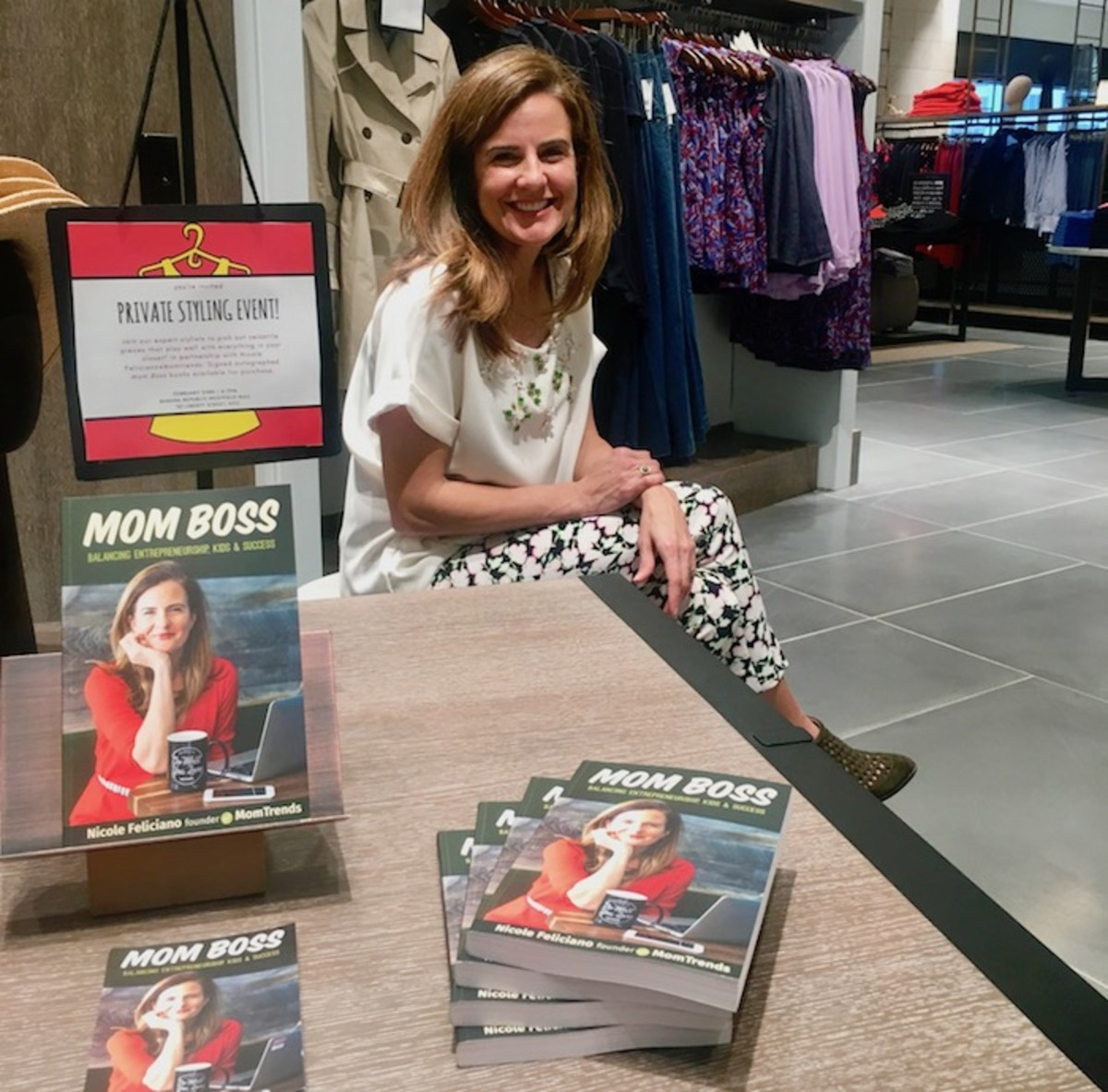 mom boss book signing