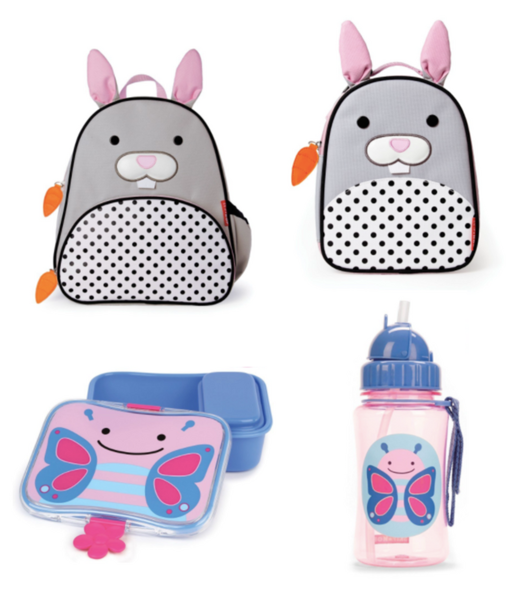 easter, kids gifts, easter gifts, lunch box essentials, skip hop, butterfly straw cup, butterfly sandwich box, bunny backpack, bunny lunch box