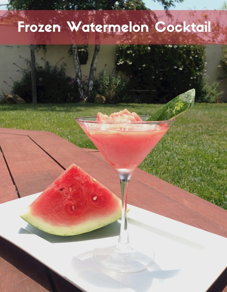 frozen watermelon cocktail