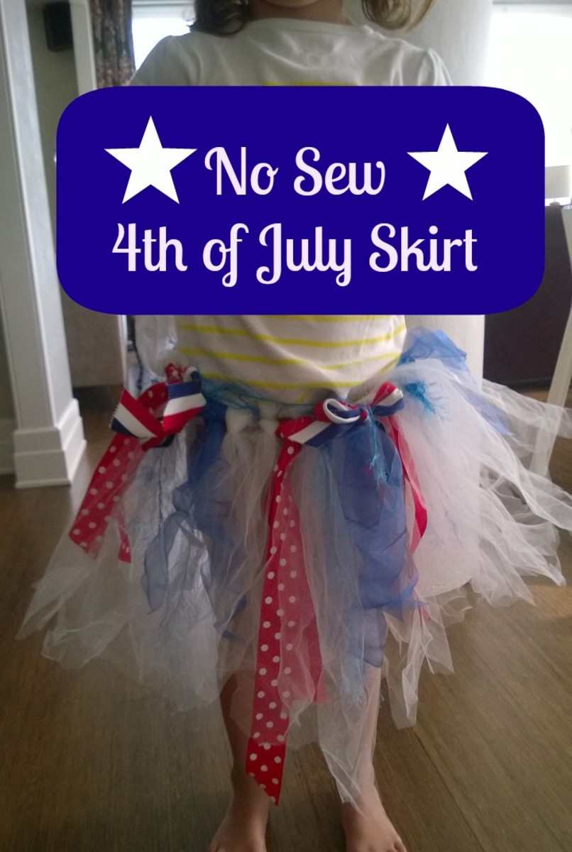 Make a 4th of July skirt for girls