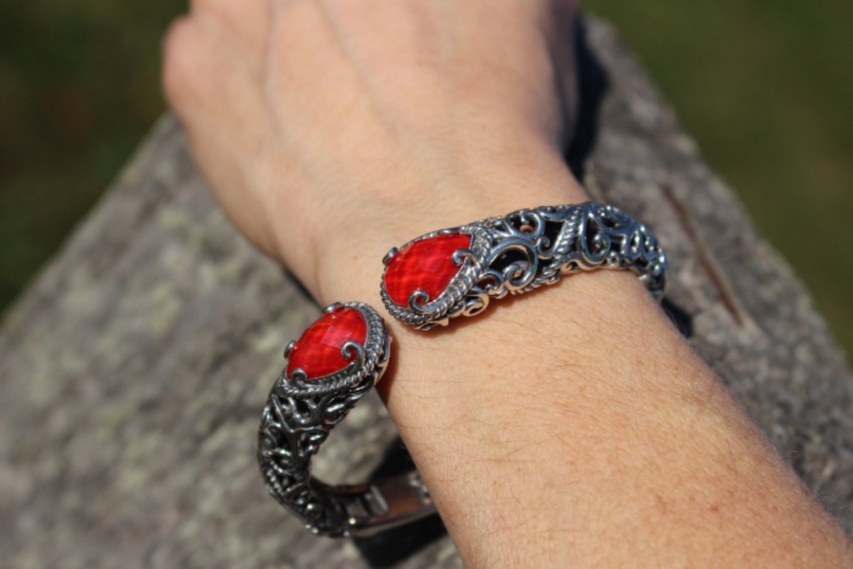 carolyn pollack, sterling silver jewelry, cuff, doublet cuff, bracelet