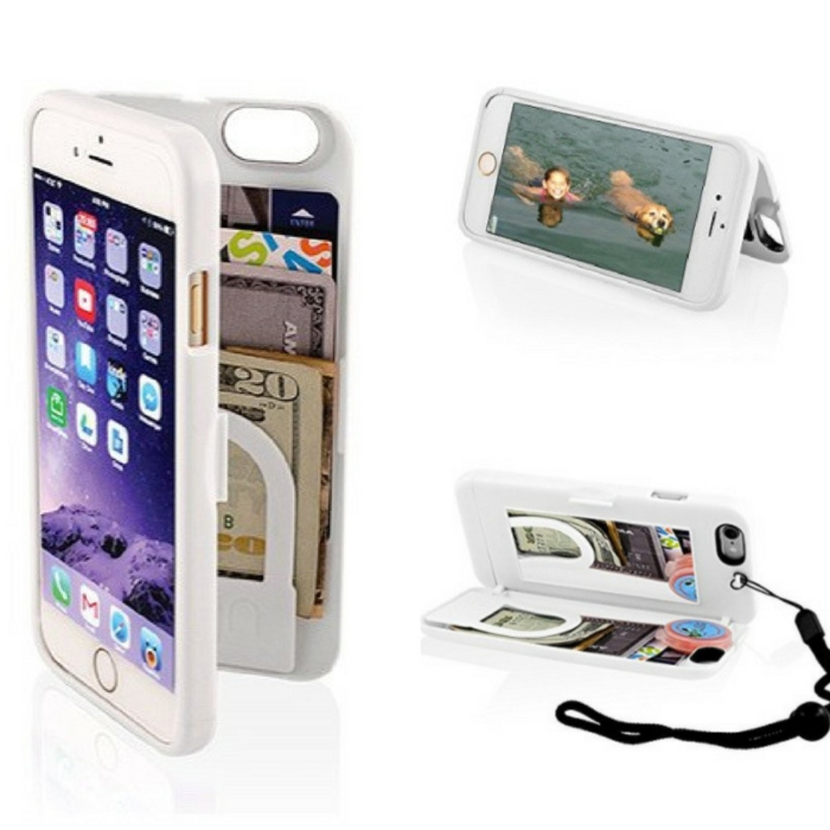 Cell phone case that holds money too