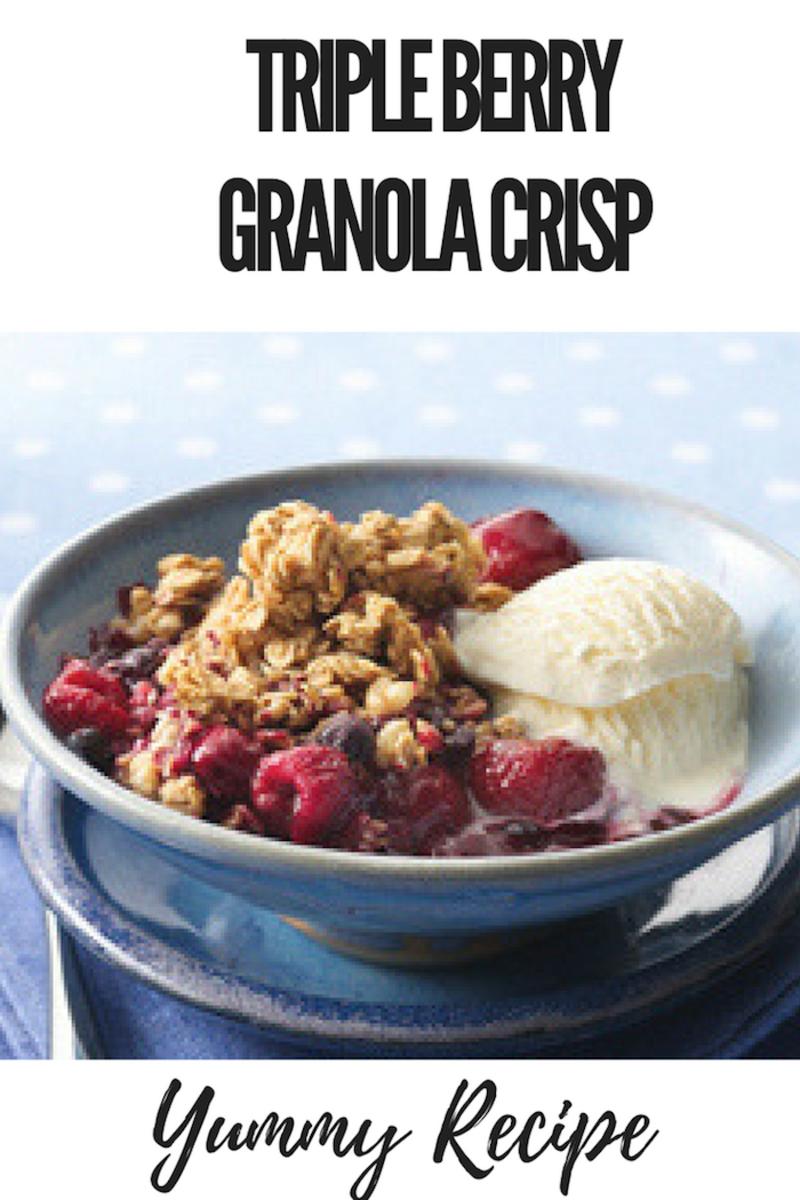 Triple Berry Granola Crisp Recipe