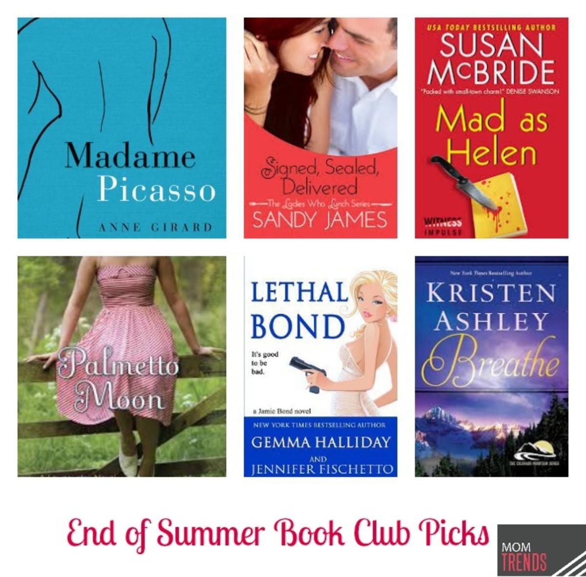End of Summer Book Club Picks