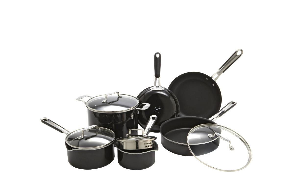 Emeril 10-pc Hard Enamel Cookware Set (2)
