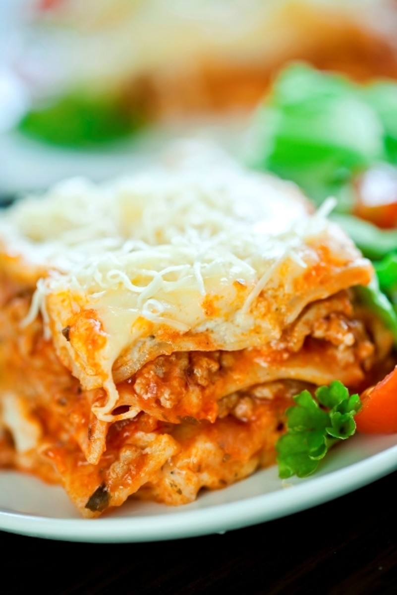 Low-fat lasagna