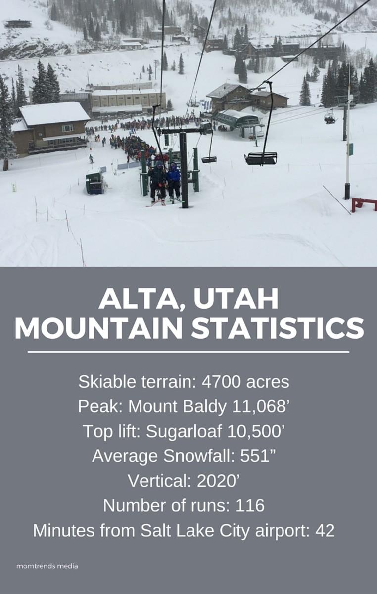 alta mountain statistics
