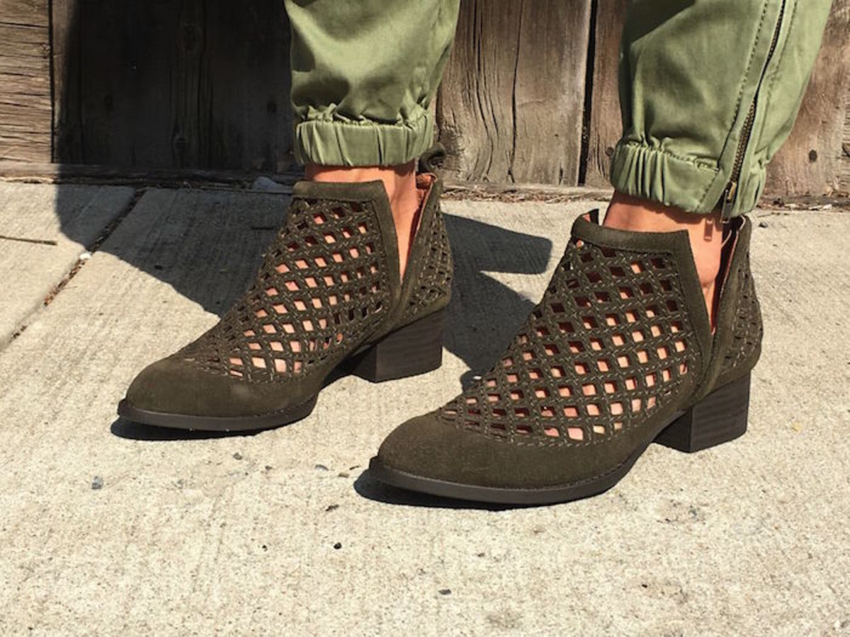 suede booties for spring