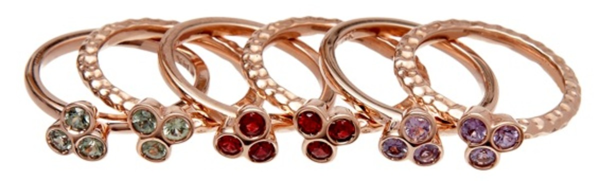 stack of the rose gold rings