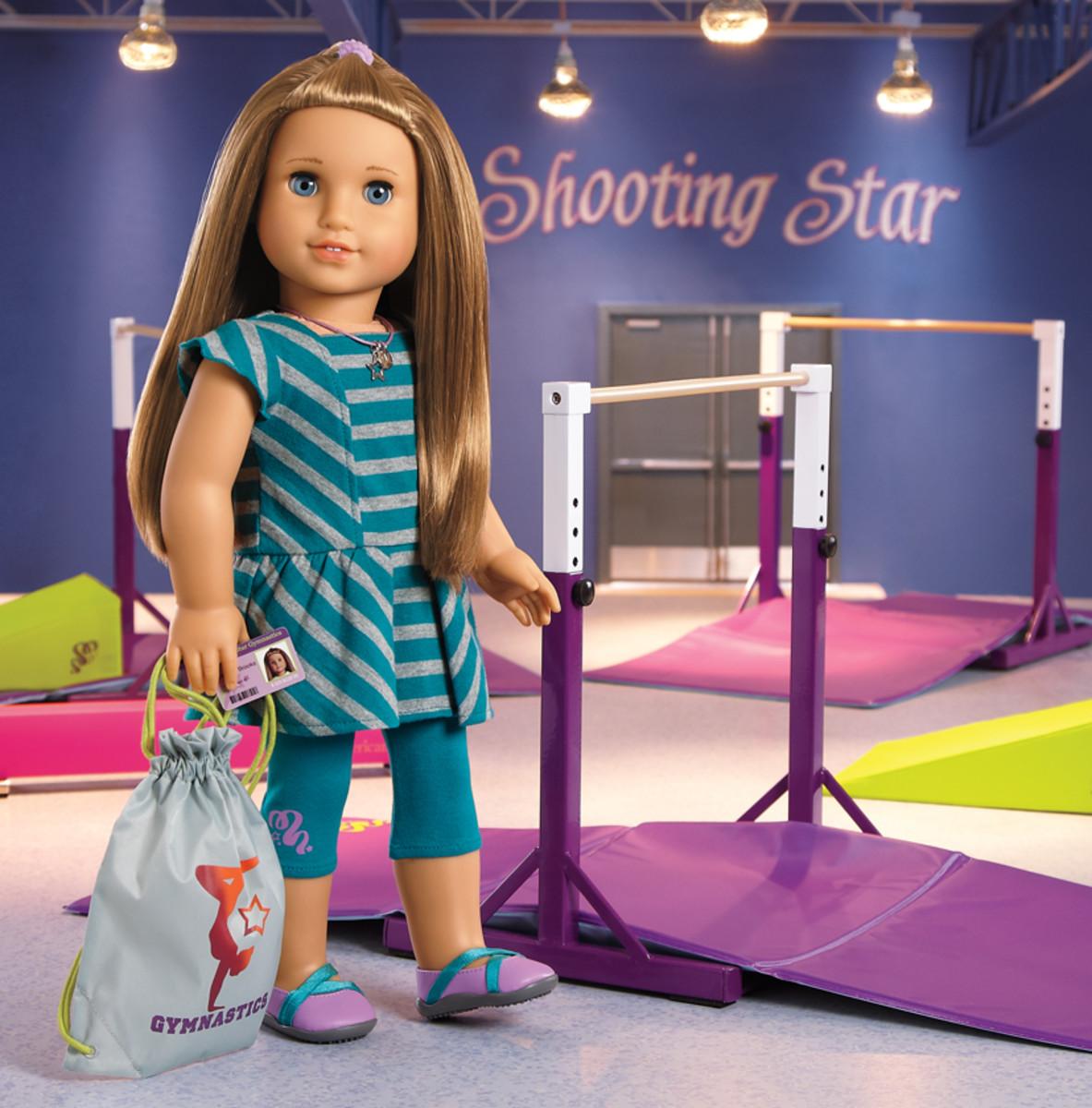 Teal Gymnastics Balance Beam for 18 inch Doll or 18 inch doll