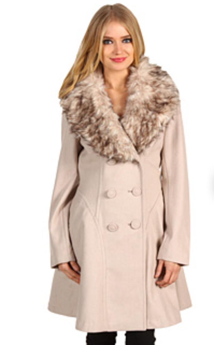 Jessica Simpson Fit & Flare Coat