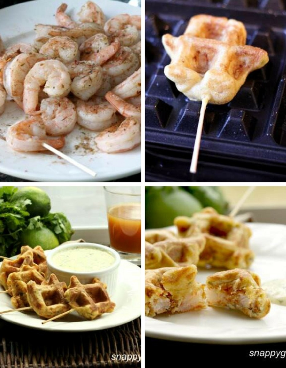 waffle iron shrimp