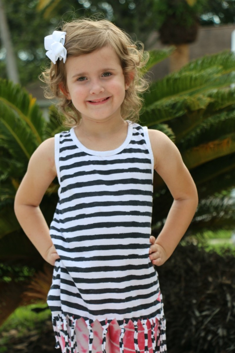 striped knotted tank