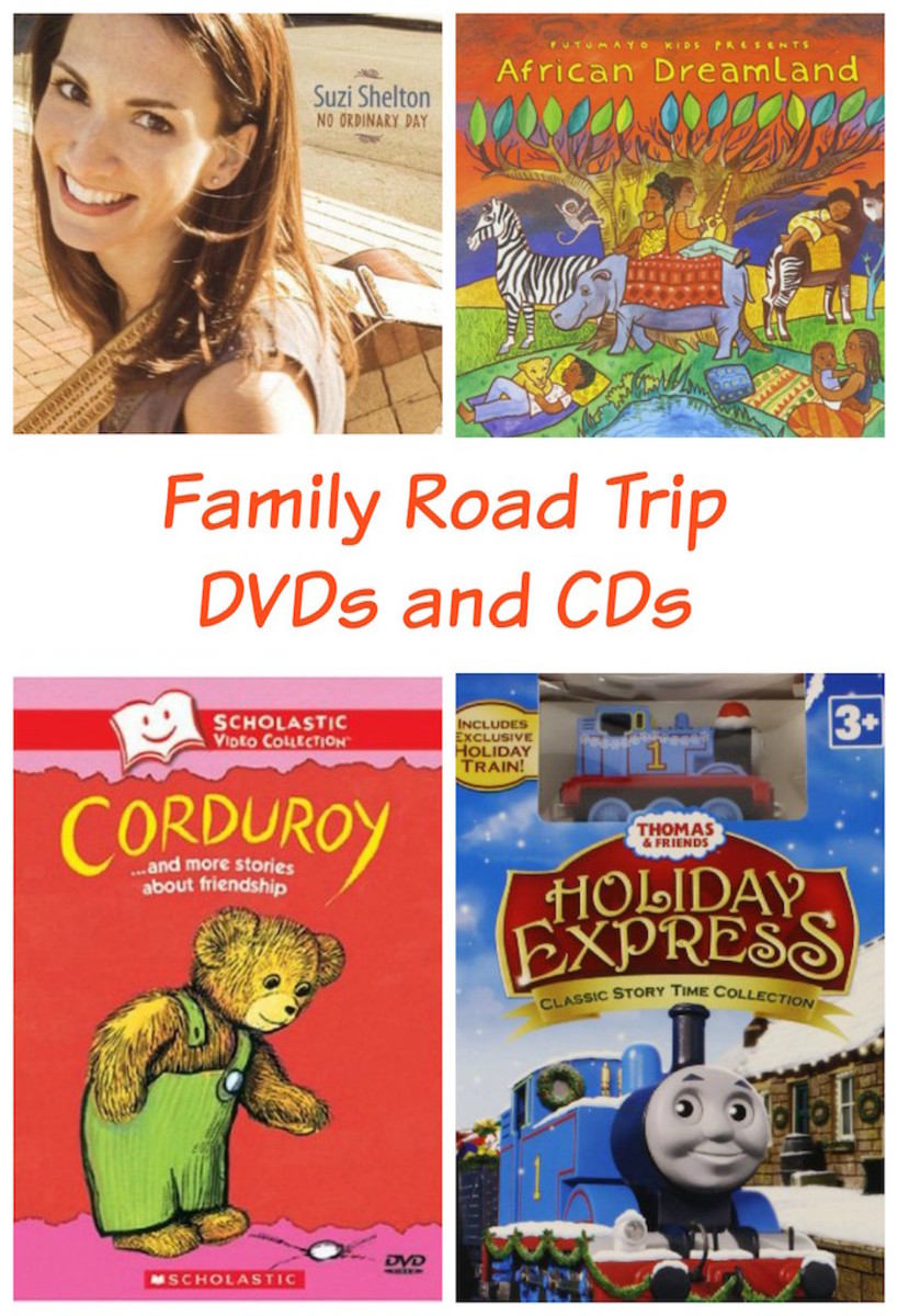 road trip DVDs and CDs
