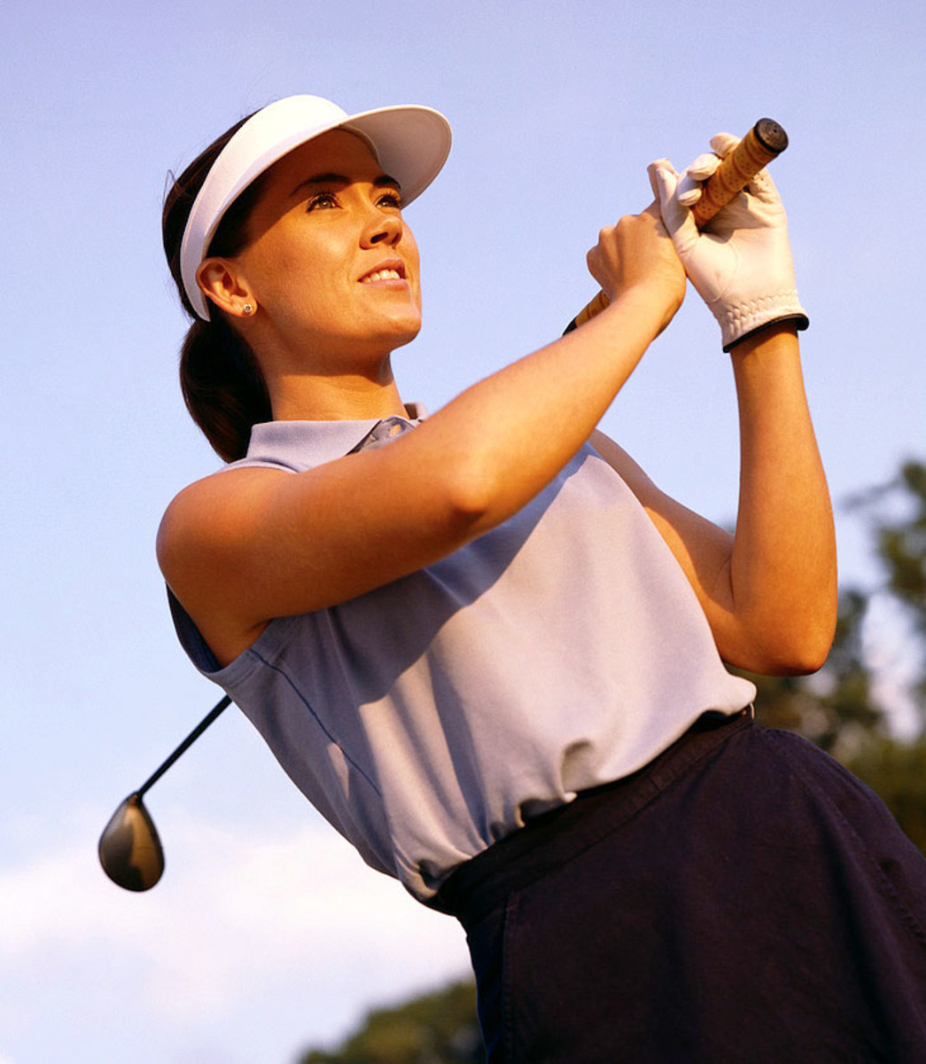 Golfer Looking at the Result of Golf Shot