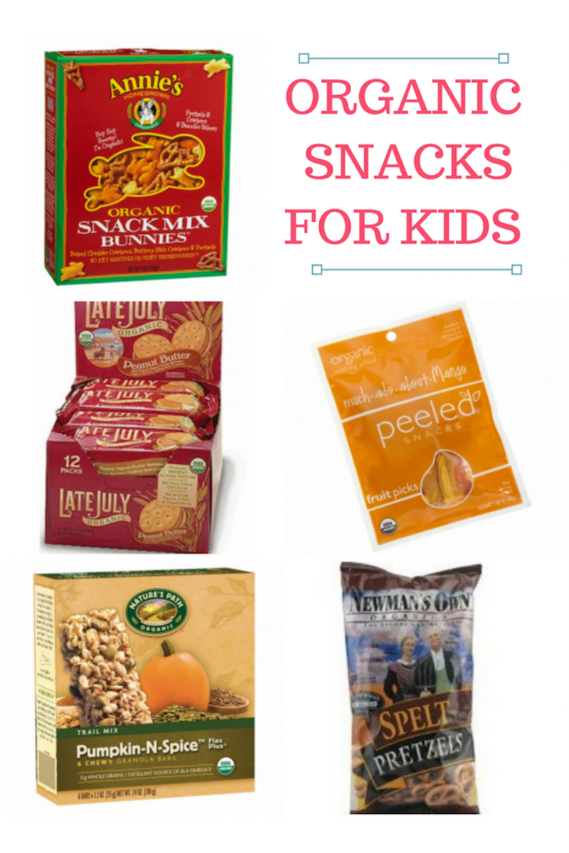 Organic Snacks for Kids, healthy ideas from the grocery store