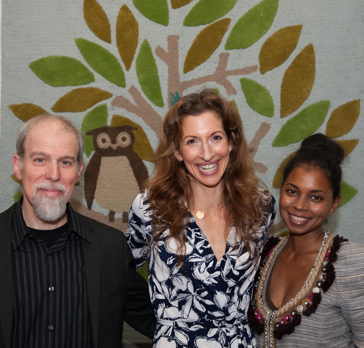 Dr. Stephen Cowan, Alysia Reiner, Penelope Jagessar Chaffer