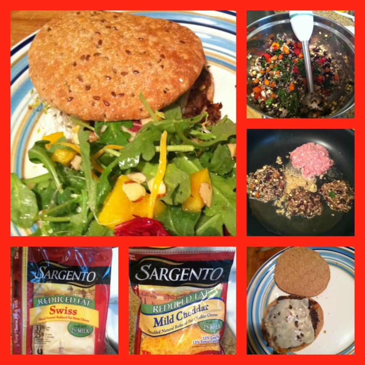 Homemade Vegetable Burgers with Sargento Cheese