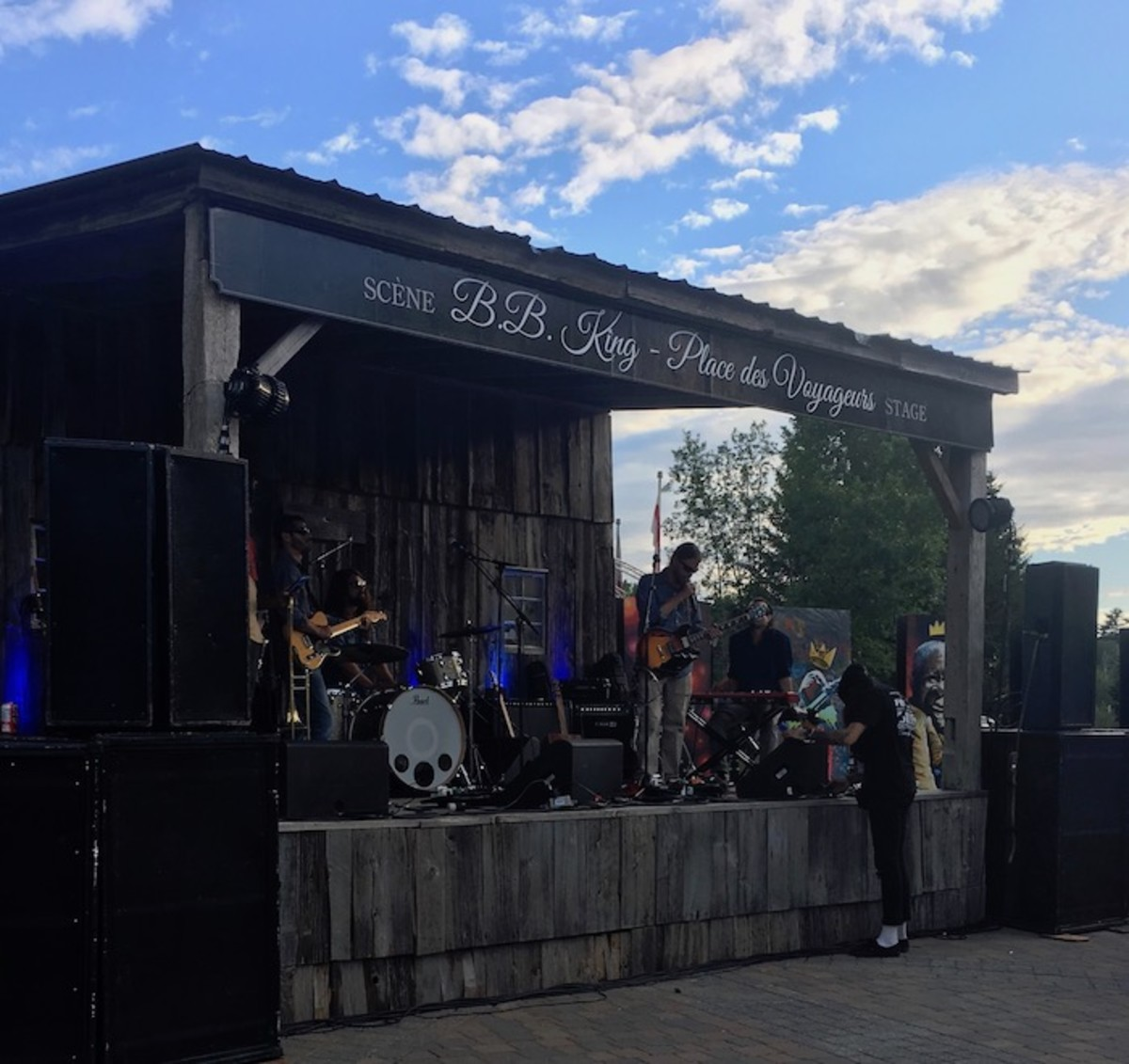 BB King Stage Blues Festival Tremblant